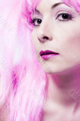 Curious pink wig