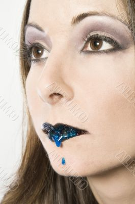 Bleeding blue lip