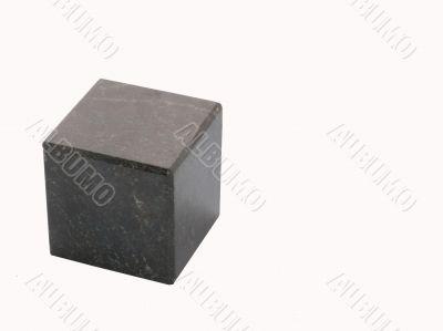 Black stone cube
