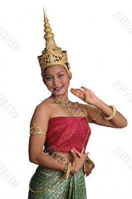 Thai/Khmer Girl 3/4 isolated