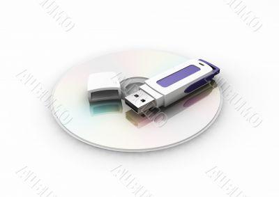 Pen drive on CD