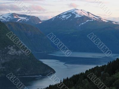 evening at fjord