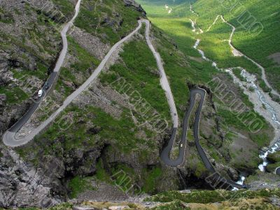 turns of  `The Troll Route`, Norway