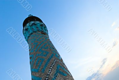 Minaret in an ancient city of Yazd, Iran