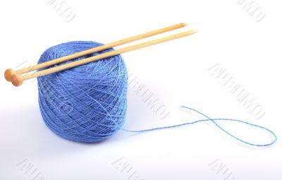 Needles on wool