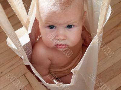 baby in bag