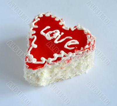 Fancy cake . Love