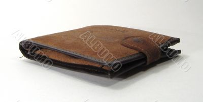 Brown chamois wallets for denominations and cards