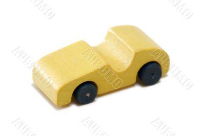 Vintage miniature wood car
