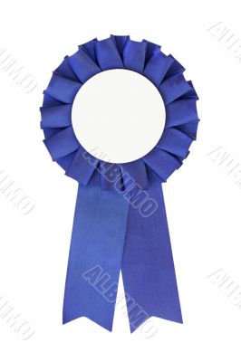 Blue Ribbon close-up (place your own text in the middle)