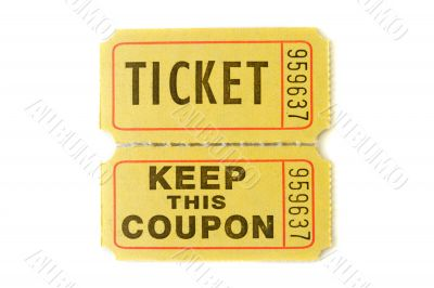 Raffle Ticket with stub
