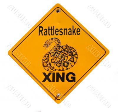 Snake Warning Sign in Desert