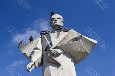 Porto`s Bishop statue