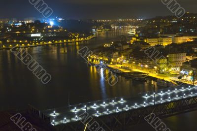 evening river city
