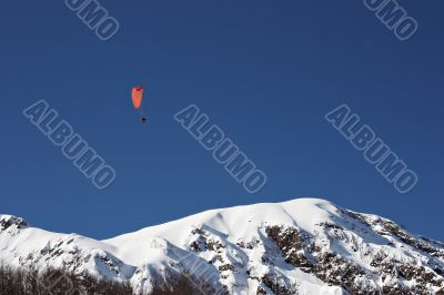 mountain paragliding