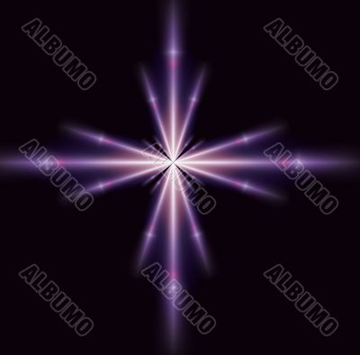 Single Purple Star
