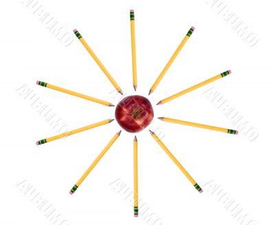 Education Series (Pencils around the apple)