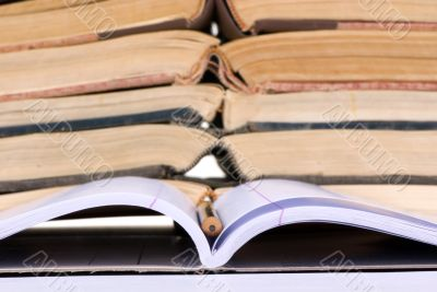 Educational Concepts (open notebook with books)