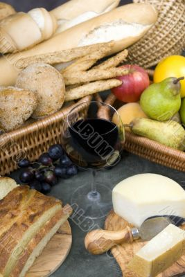 Bread and Wine Series with mixed fruit