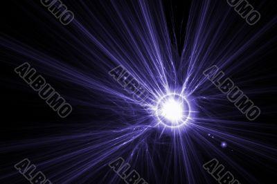 violet star glow