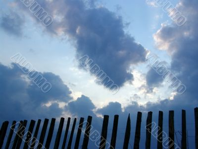 Fence and sky