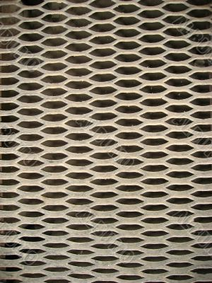 Rough floor grating from a metal