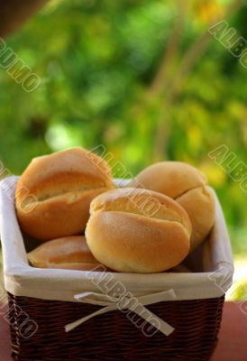 Basket with ready bread