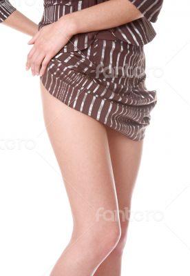 woman`s beautiful legs