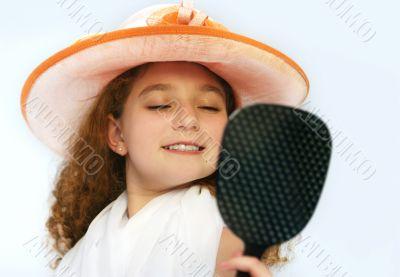 Girl in fancy hat