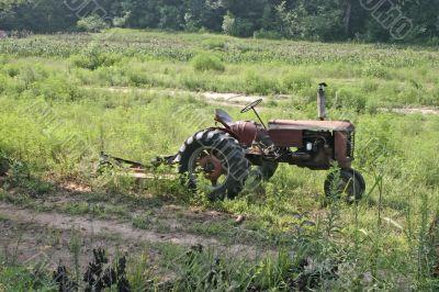 vintage farming tractor