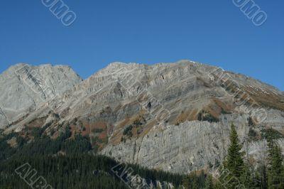 Rocky ridge, showing deformation