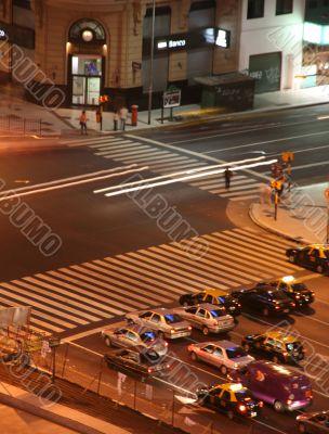 Light traces of traffic, night