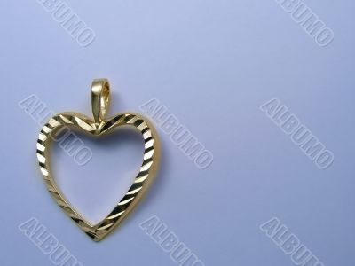 Background with golden heart