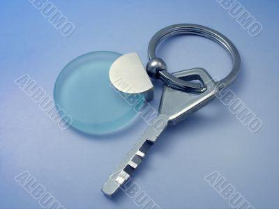 Key with gem