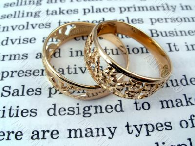 The open book and jewelry