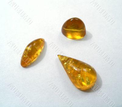 Gems. Variety Amber