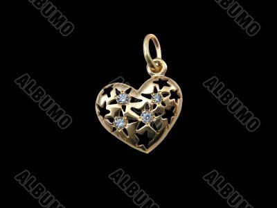 Golden & diamond heart