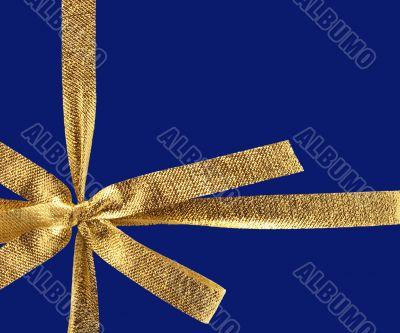 golden gift ribbon