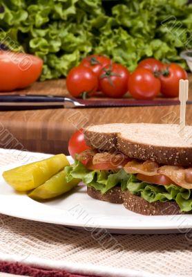 Bacon Lettuce and tomato sandwich 003