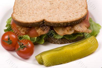 Bacon Lettuce and tomato sandwich 005