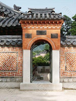 Archway in Oriental Style, Seoul, Korea