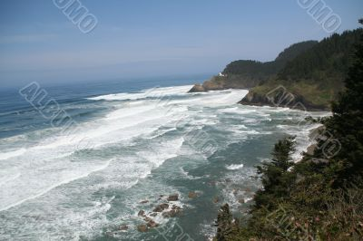 Heceta Head Lighthouse & surf