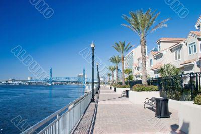waterfront condo walkway 2