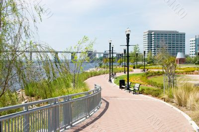 linear urban park path