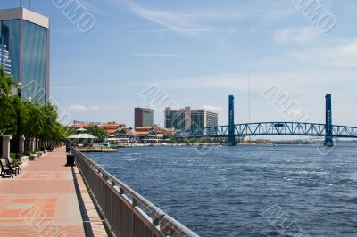 urban waterfront walkway
