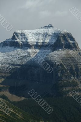 New snow on mountain peak