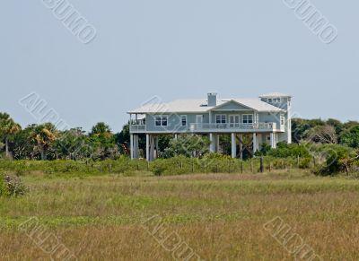 marsh view coastal home
