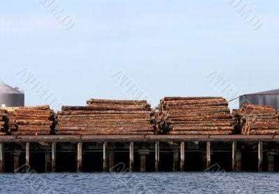 Logs on Wharf