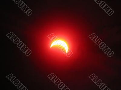 Partial solar eclipse. Ukraine. March 29, 2006.