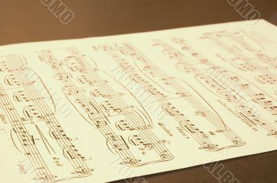 notes sheet